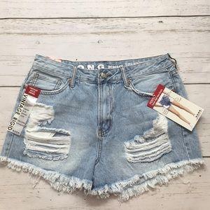 S.O.N.G distressed shorts
